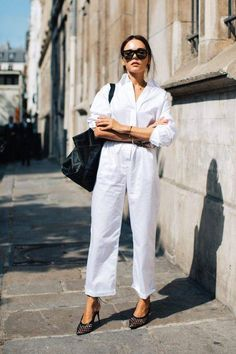 40 ideas fashion week outfit ideas heels for 2019 Beige Outfit, Womens Fashion Online, Latest Fashion For Women, White Jumpsuit, Jumpsuit Hijab, Jumpsuit Style, Jumpsuit Outfit, Looks Street Style, Student Fashion