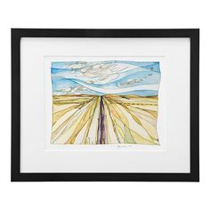 Somewhere in Montana | watercolor painting, Montana | UncommonGoods