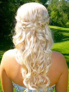 crown braid - grad hair <3