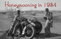 A Honeymoon Journey of a Lifetime! Motorcycle honeymoon across Europe, India and Asia. Vintage black and white motorcycle images. Women Riders Now - Motorcycling News & Reviews #WRN #inspiration