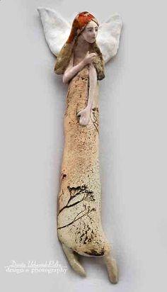 Ceramic Figures, Clay Figures, Ceramic Art, Clay Angel, Pottery Angels, Ceramic Angels, Pottery Techniques, Angel Art, Air Dry Clay
