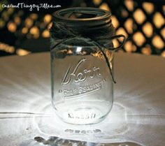 Mason jar luminaries by Streegy