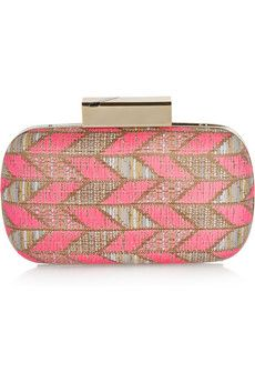 Matthew Williamson Chevron weave box clutch.