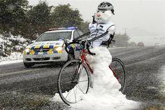 Cycling Snowman