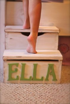 personalized step stool....must make!