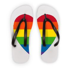 Obscene Flip Flops | Rainbow Love