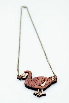 Bird Necklace. Dodo Necklace. Statement by designosaurYEAH on Etsy, $49.00