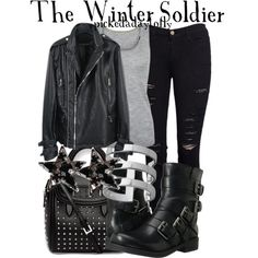 The Winter Soldier, created by pickedadaytofly on Polyvore