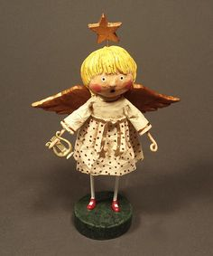 White & Gold Vintage-Inspired Christmas Angel Figurine by ESC and Company, Inc., $20 !!   #zulily #zulilyfinds