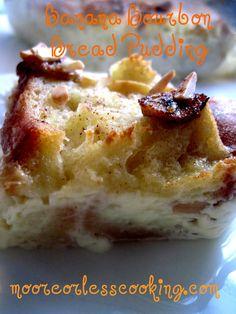 Banana Bourbon Bread Pudding