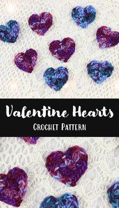 Free Crochet Pattern: Valentine Hearts
