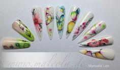 Nails maleola One Stroke Nails, Nail Stencils, Nails First, Nailart, Nail Candy, One Stroke Painting, Pedi, Nail Designs, Inspiration