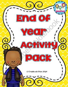 End of Year Activities MEGA Pack! Yearbook and Memory Book Pages! TOP SELLER! from Create abilities on TeachersNotebook.com -  (38 pages)  - End of Year Activities MEGA Pack! Yearbook and Memory Book Pages! TOP SELLER!