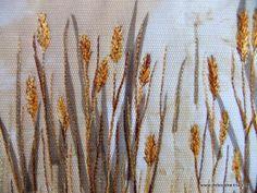 Thread sketching in action No 17 - Free stitched grasses part 2 (Detail 2) - Deborah Wirsu