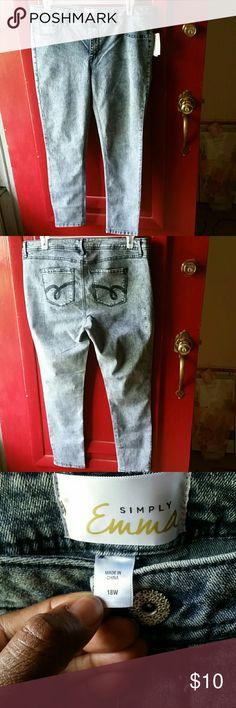 Acid washed jeans Skinny leg acid washed jeans never worn Jeans Skinny