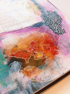 mixed media journal bybun #art #journal #artjournal