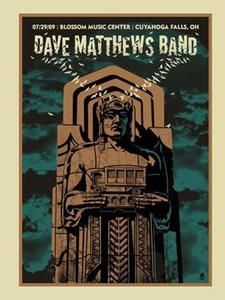 Dave Matthews Band Date: Venue: Blossom Music Center City: Cuyahoga Falls State: OH Rock Posters, Concert Posters, Music Posters, Dave Matthews Band Posters, Blossom Music Center, Cuyahoga Falls, Jazz Musicians, Him Band, Music Stuff