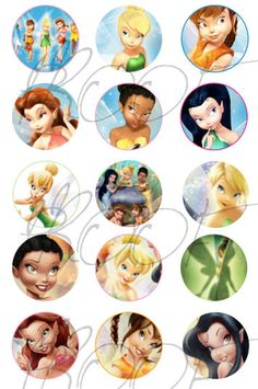 Tinkerbell and Friends Disney Princess  by Hislifemagazine on Etsy