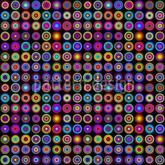 Colorful Psychedelic Circles On Black Background Stock Vector (Royalty Free) 120301207 Pattern Images, Vector Pattern, Pattern Design, Black And White Abstract, Circle Design, Op Art, Surface Design, Black Backgrounds, Psychedelic