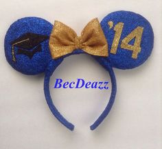 These Grad Night inspired Mouse ears headband, can be be made in just about any color and any year. Please convo for color availability. Ears are Diy Disney Ears, Disney Mickey Ears, Minnie Mouse, Disney Headbands, Ear Headbands, Disney Day, Disney Parks, Estilo Disney, Mouse Ears Headband