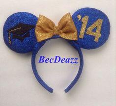 Grad Night Minnie  Mouse Ears headband on Etsy, $25.00. Graduating on Monday. ;)