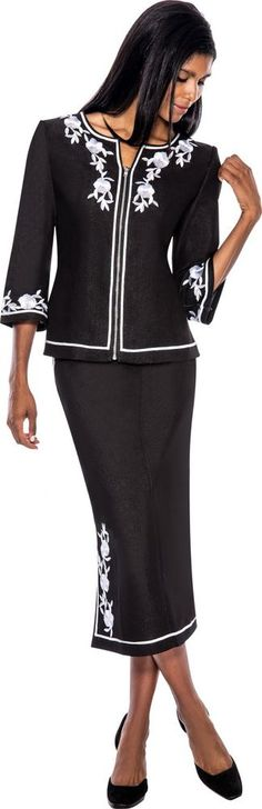 Silver Soft Stretch Denim Casual Elegant Modest Skirt Suit Church or Work Dress #DevineSport #SkirtSuit