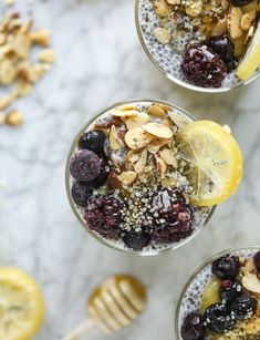 Lemon Chia Pudding - Lemon Curd Chia Pudding Parfaits