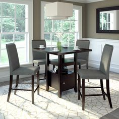 brayden studio swigart 5 piece counter height pub table set finish brown products pinterest pub table sets counter height pub table and products