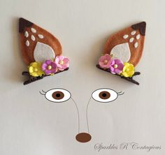 Fawn Deer Ears Hair Clips by SparklesRContagious on Etsy