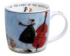Lord of the Dance Mug by Sam Toft Dance and eat cake like nobody's watching.