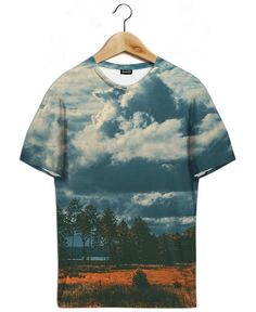 The Flat Land as All-Over Print T-Shirt by Pale Grain | JUNIQE