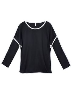 Kohl#8217;s women#8217;s t shirts women loose geometry long sleeve pullover t-shirt #lands #end #womens #t #shirts #t #shirt #dangerous #woman #t #shirt #equestria #girl #t #shirt #for #girl #2015