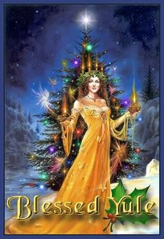 Yule tree and Spirit of the solstice