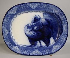 Flow Blue China, Blue And White China, Love Blue, Turkey History, Peru, Blue Dishes, White Dishes, Turkey Plates, Vintage Thanksgiving