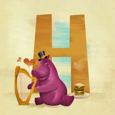 H is for... Art Print by Dave Mottram's Store   Society6