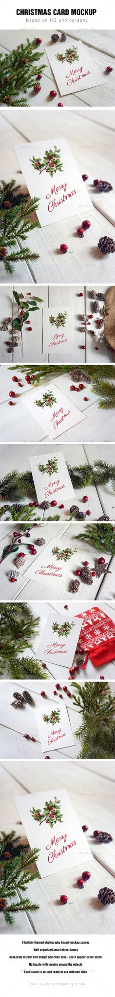 #Christmas #Card #Mockup - Miscellaneous Print