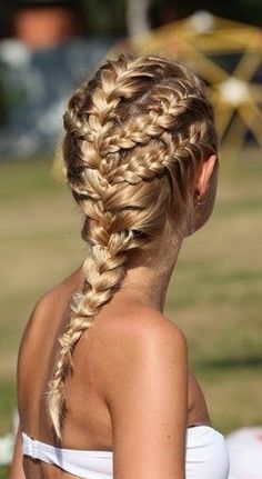 Intricate French braids // via @byrdiebeauty