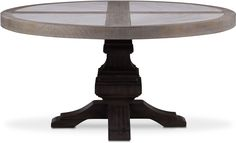 Dining Room Furniture - Lancaster Round Marble Top Table - Parchment with Truffle Base Dining Room Furniture, Furniture Making, Furniture Design, Rustic Contemporary, Brick Fireplace, Marble Top, Lancaster, Dining Table, Living Room