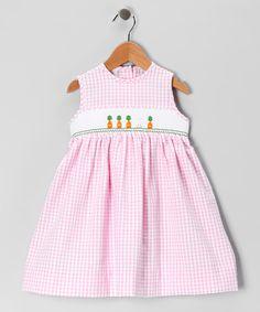 Pink Bunny Smocked Dress - Infant, Toddler & Girls