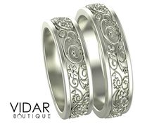 Hey, I found this really awesome Etsy listing at https://www.etsy.com/listing/399495163/matching-wedding-band-setunique-matching