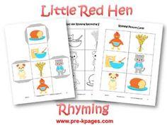 Little Red Hen Rhyming Activity via www.pre-kpages.com