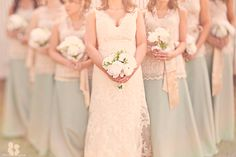 *gasp* Skirts and lacy tops for the bridesmaids?!! So pretty!!