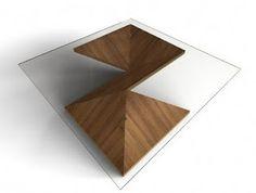 tavolino origami in legno e vetro!