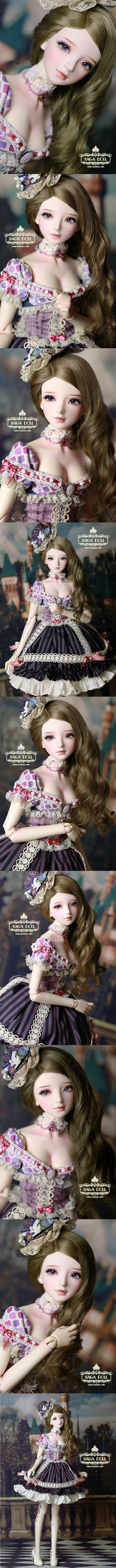 BJD Camille Girl 65cm Ball-Jointed Doll_Silvery Obsidian_XAGA DOLL_DOLL_Ball Jointed Dolls (BJD) company-Legenddoll