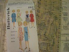 ORIGINAL Butterick 2931 Pattern for Tammy Samantha Suzie Jan Terry 12 inch Dolls