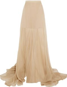 Vionnet Silk-organza maxi skirt