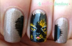 #butterlondon #painting #acrylic #nail #nails #nailart #lapaillettrefrondeuse #cat #persan