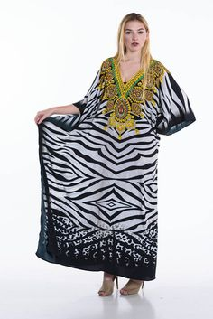 d59f954706 Elegant B/W kaftan dress, maternity gown, Black and white kaftan, caftan,  bohemian maternity kaftan maxi dress beach cover ups womens