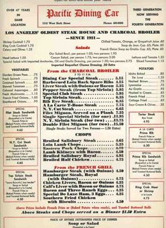 pacific dining car menu with prices