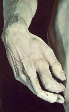 Michelangelo was 29 years when he completed his statue of DAVID. He did not carve the hand in proportion so as to show the energy and tension experienced by David before he hurled the stone at Goliath. Picasso, Late Modern Period, Carpeaux, Greek Statues, High Renaissance, Sistine Chapel, Art Images, Rembrandt, Art History